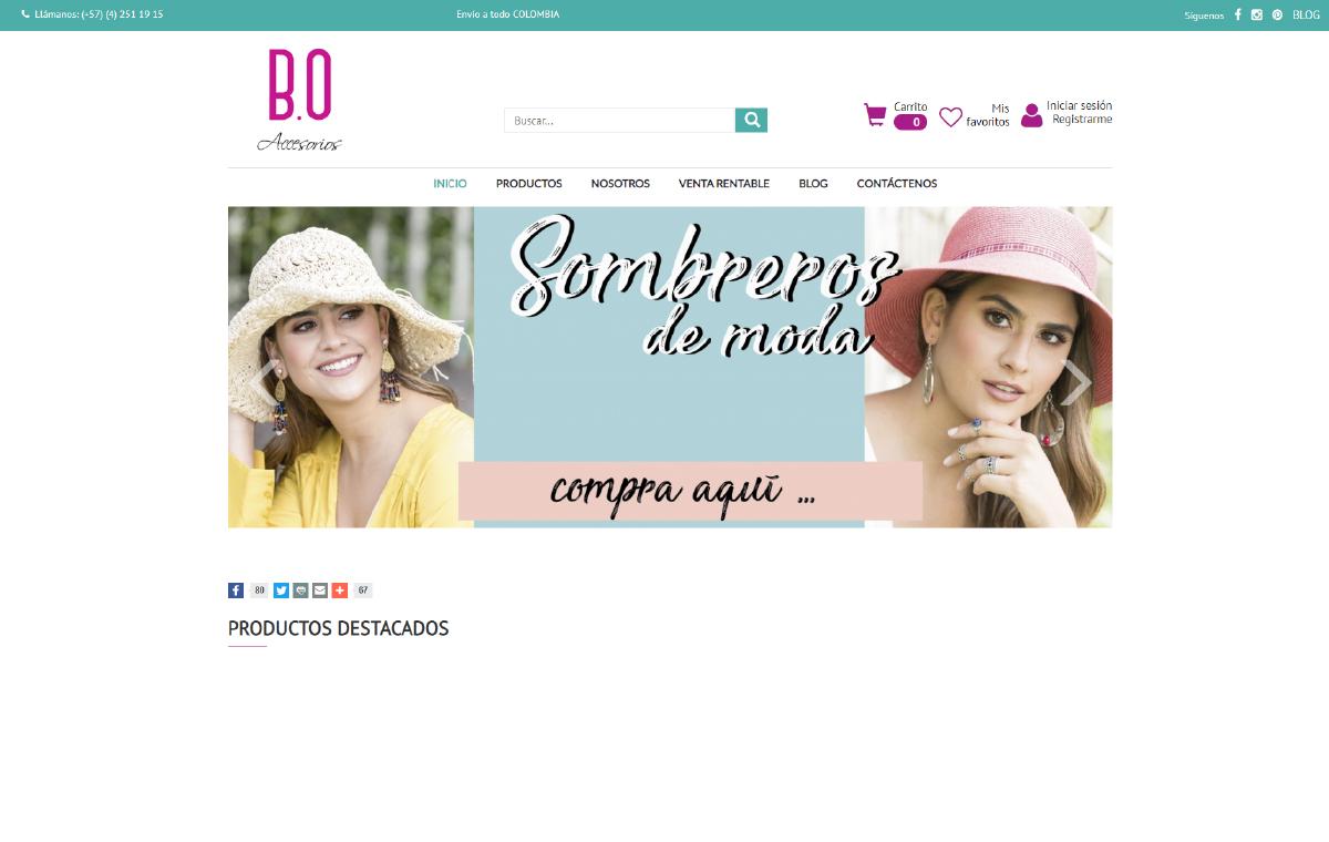B.O Tienda de Accesorios para Mujer