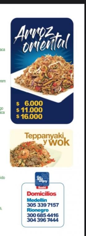 Comida asiática a domicilio en medellin.