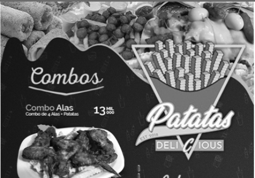 comidas rápidas a domicilio  patatas delicious