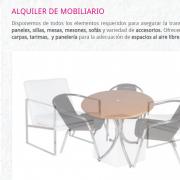 Alquiler de mobiliario para eventos Mobilia