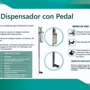 Dispensador de gel antibacterial con pedal